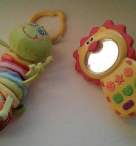 Гусеница Tiny love, музыкальный телефон погремушка