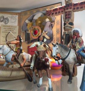 SCHLEICH фигурки индейцев