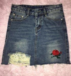 Классная джинсовая юбочка