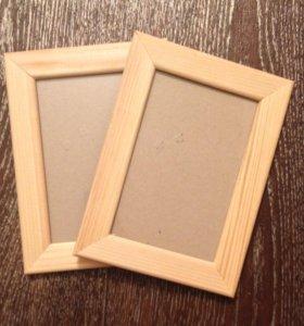 2 деревянные фоторамки