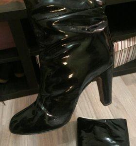 Сапоги лаковые Zara