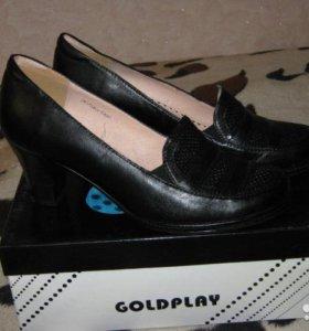 Туфли новые нат.кожа р.37