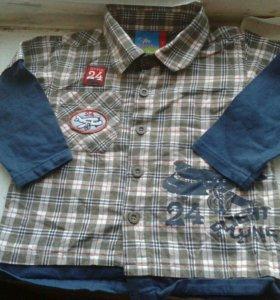 Рубашка р.74-80 Topolino с трикотаж. рукавами