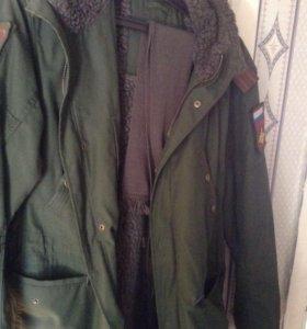 Куртка  парка военная отл сост