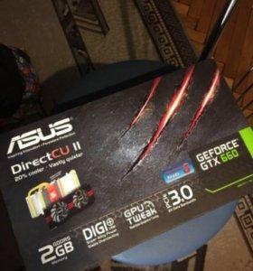 Продам видеокарту Asus GTX 660 2 gb
