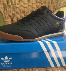 Кожаные новые мужские кроссовки Adidas Dragon