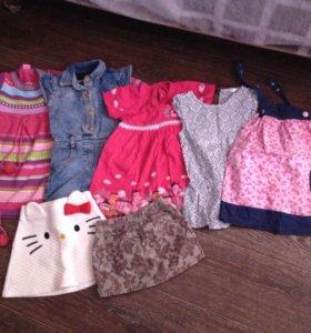 Пакет вещей на девочку 2-4 года