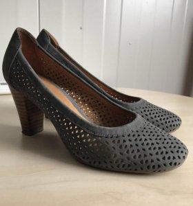 Туфли натур.нубук на р.36
