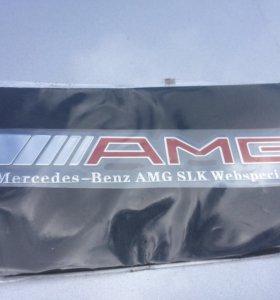 Эмблема AMG Mercedes тонкая металлизированная