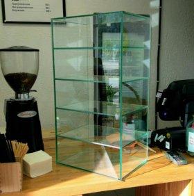 Стеклянные витрины прилавки на заказ