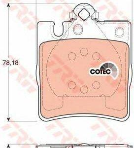 Колодки тормозные TRW зад. диск. GDB1334