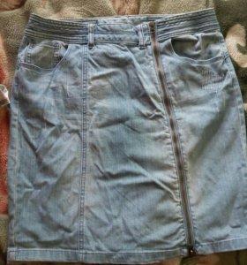 джинсовая юбка бу