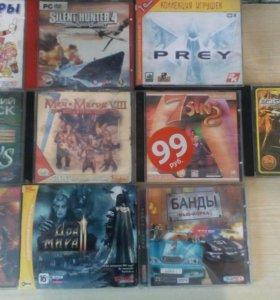 Много игровых дисков