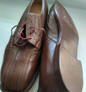 Мужские раритетные туфли 1955 года, кожа, новые!!!