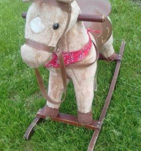 Детская  качеля, лошадка.