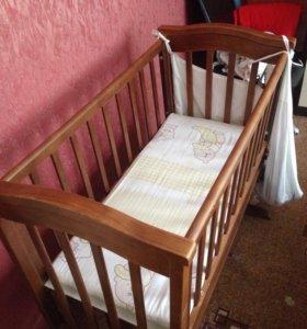 Кровать-люлька GandyLyan+ матрац+ бортики+подарок