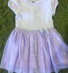 Платье нежно сиреневого цвета р80-86