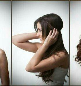 Волосы на резинке