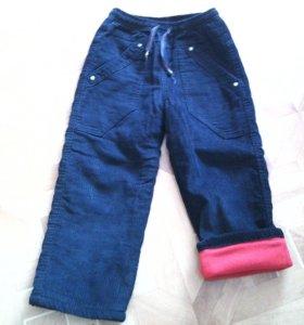брюки вельветовые утеплённые