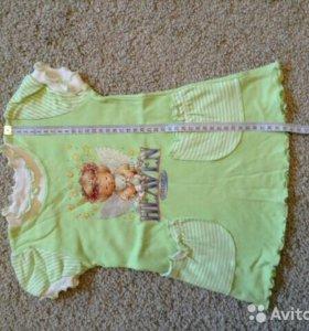 Летнее платье для девочки размер 86
