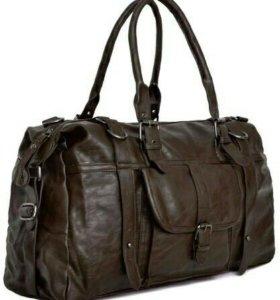 Мужская новая коричневая сумка