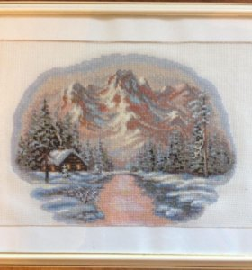 Картина вышитая крестом, 35х45