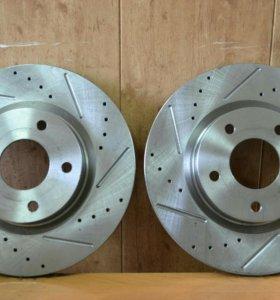 Перфорированные тормозные диски на все авто