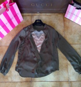 Zara блузка шелковая
