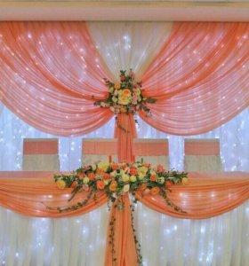 Оформление свадеб, юбилеев, детских праздников