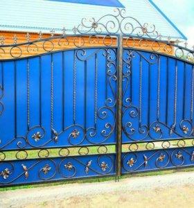 Кованые ворота артикул 79
