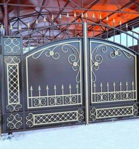 Кованые ворота артикул 78