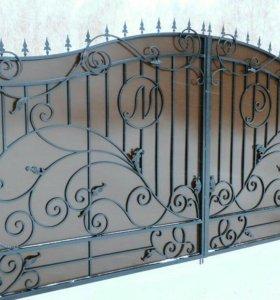 Кованые ворота артикул 76