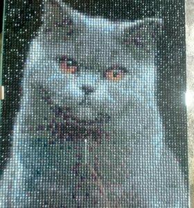 Картина Кот алмазная мозаика