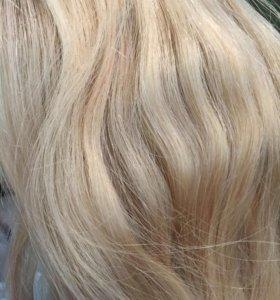 Натуральные волосы на трессе