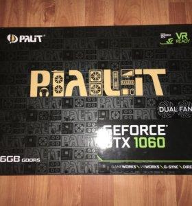 Nvidia Palit Gtx 1060 dual 6gb (на гарантии)