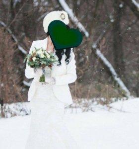 Жакет белый свадебный айвори