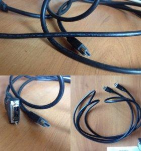 Видеокабель VGA- HDMI
