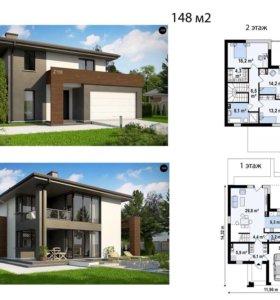 Готовый проект частного дома 148м2
