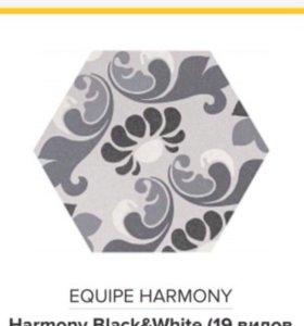 Плитка Equipe Hexatile blanco mate ; Equipe Harmon