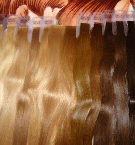 Волосы(на заколках)и капсулах