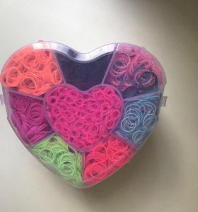 Детский набор резинок для плетения браслетов(новый