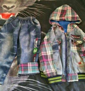 Детская джинсовая одежда 86-92 размер