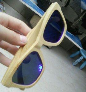 Деревянные солнечные очки