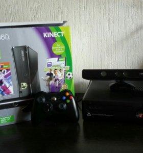 Xbox360+Kinect+джойстик+12игр