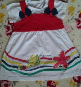 Платье для девочки(74-80)Wanex