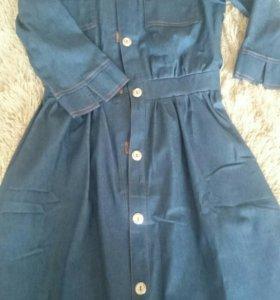 Джинсовое платье,новое