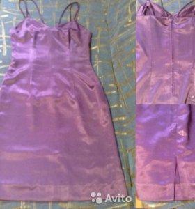 Сарафан и кофточка с коротким рукавом фиолетовые