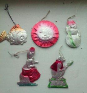 Ёлочные игрушки СССР. бумажные