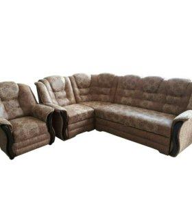 """0237 диван угловой """"Новелла"""" с креслом"""