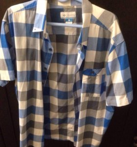 """Columbia"" рубашка мужская в клетку 3XL б/у"